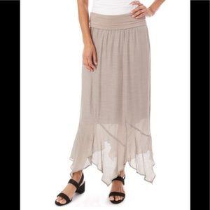Taupe Gauze Skirt